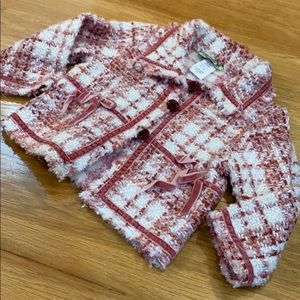 Little Mass Pink Houndstooth boucle Style Jacket 2